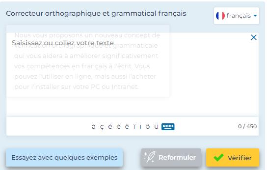 Correcteur orthographique et gramatical